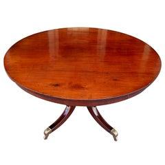 Barbados Mahogany  One Board Tilt Top Table