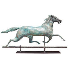 American Copper Full Bodied Horse Weathervane