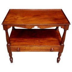 American Walnut Two Tier One-Drawer Server, Circa 1820