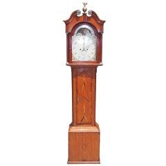 English Masonic Oak Tall Case Clock  H. Peach.  Circa 1820