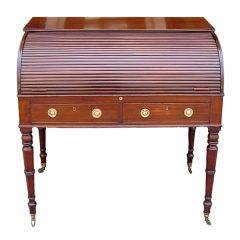 English Mahogany Tambour Sheraton Desk