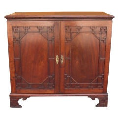 English Chippendale Mahogany Linen Press