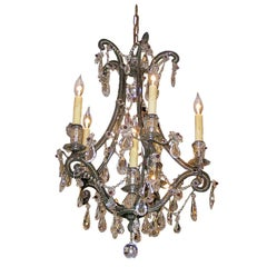 Maison Bagues  Bronze and Crystal Chandelier