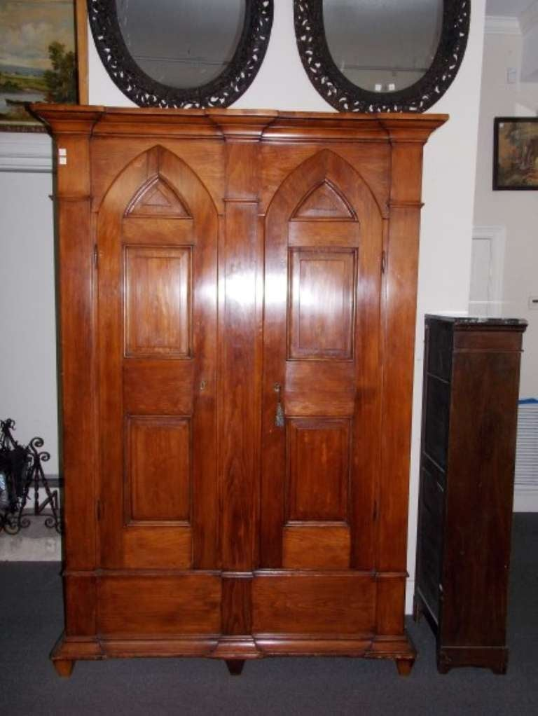 american white pine armoire for sale at 1stdibs. Black Bedroom Furniture Sets. Home Design Ideas