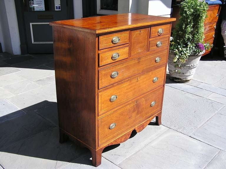 American Walnut Chest of Drawers In Excellent Condition For Sale In Charleston, SC