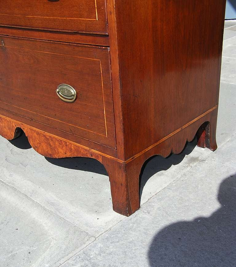 American Walnut Chest of Drawers For Sale 6