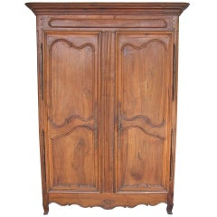 French Provincial Walnut Armoire.  Circa 1780