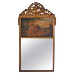 French Gilt Trumeau Mirror