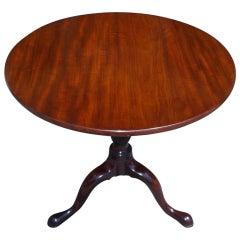 Charleston Mahogany Tilt Top Tea Table with Birdcage. Mid 18th Century