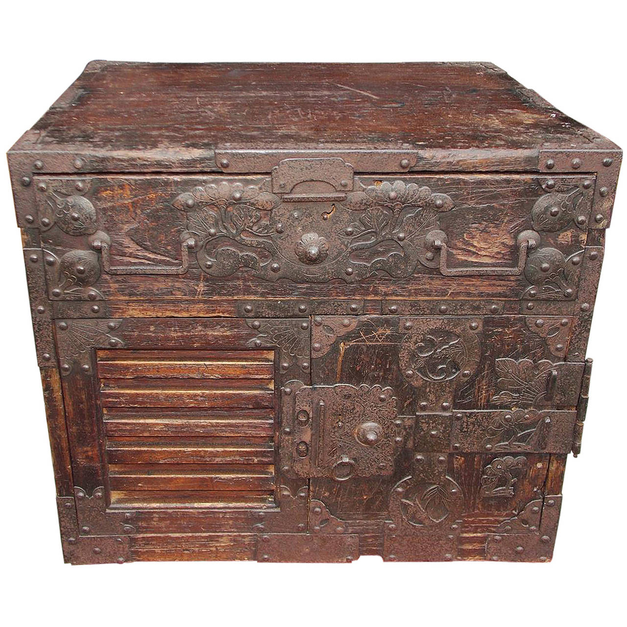 Japanese Military Campaign Document Box Circa 1770 For