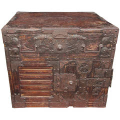 Japanese Military Campaign Document Box. Circa 1770
