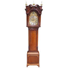 English Oak and Mahogany Tall Case Clock. John Coates, London, Circa 1750