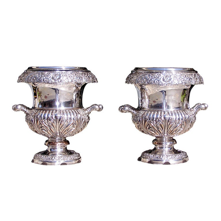 Pair of English Sheffield Wine Coolers