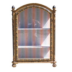 Italian Painted and Gilt Display Case