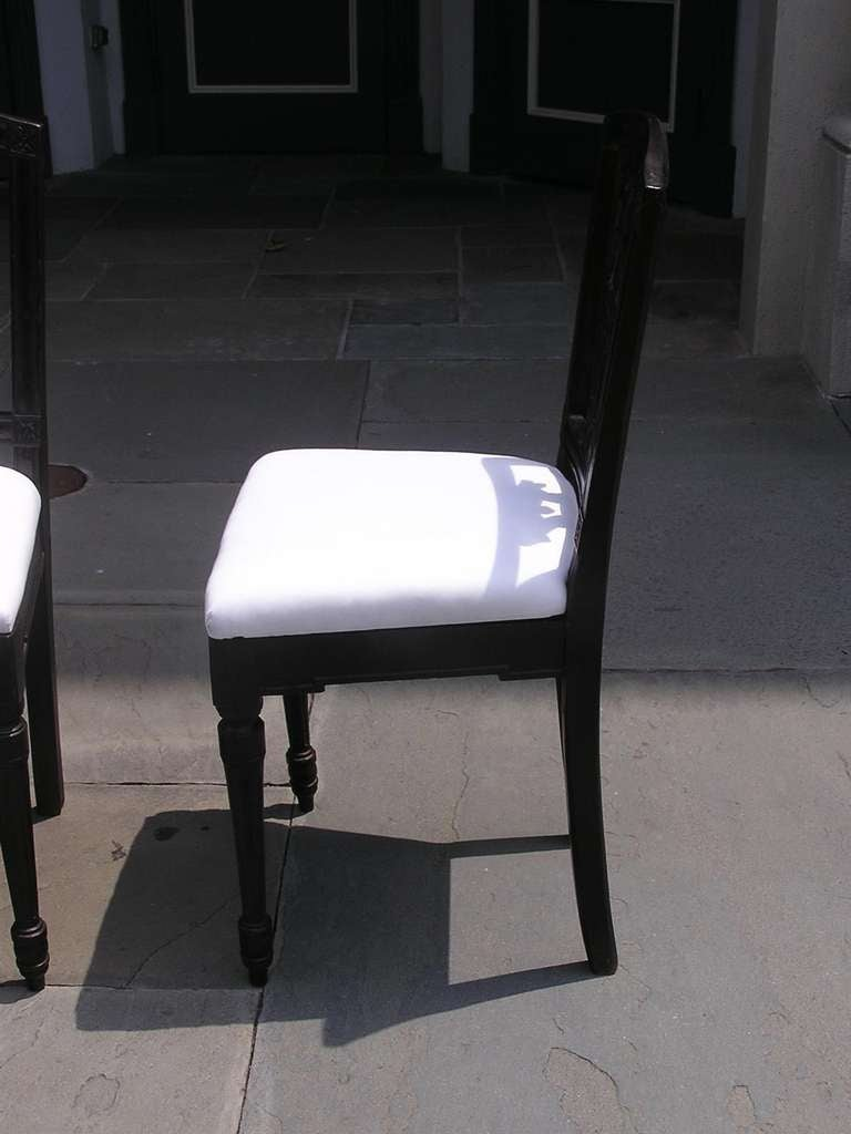 Set of Four Italian Mahogany Side Chairs, Circa 1820 For Sale 3