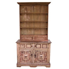 French Step Back  Painted Cupboard