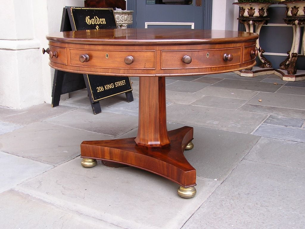 English Mahogany Rent Table 4