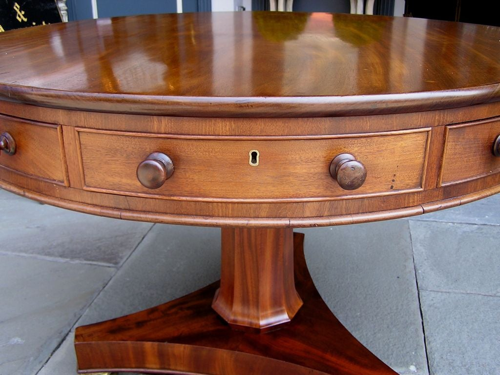 English Mahogany Rent Table 6
