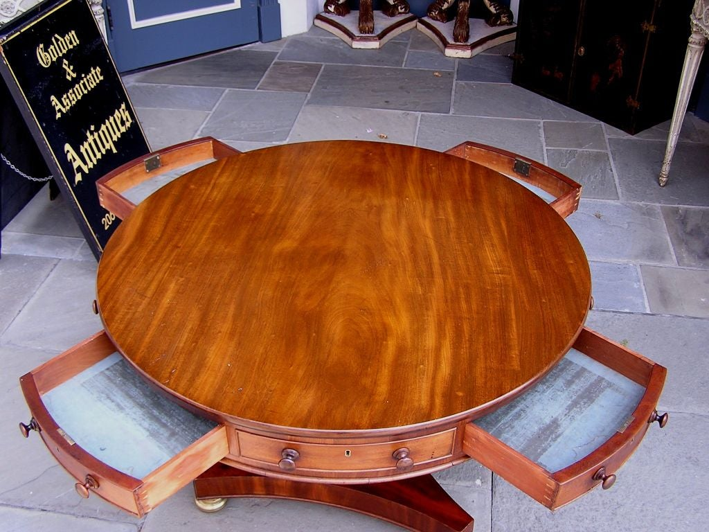 English Mahogany Rent Table 7