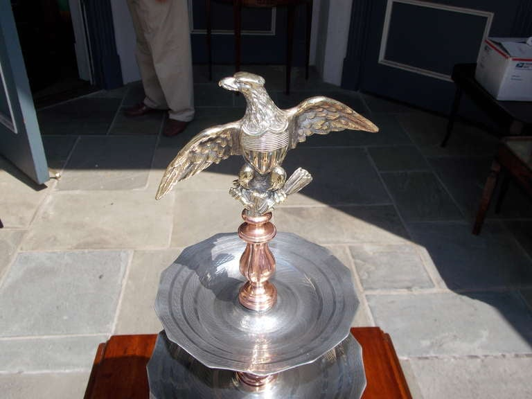english sheffield and bronze three tiered eagle taza