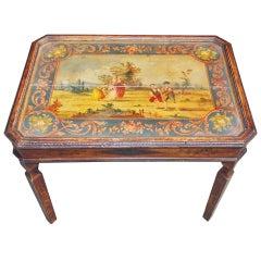 Italian Painted and Gilt Tea Table. Circa 1830