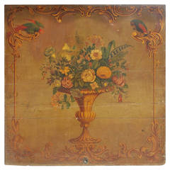 Italian Oil on Board Floral Still.  Circa 1810