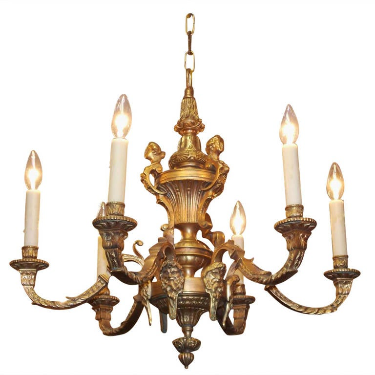 Italian gilt bronze chandelier circa 1820 for sale at 1stdibs - Circa lighting chandeliers ...
