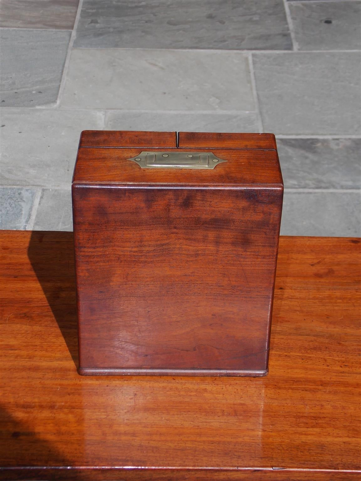 English Mahogany Military Campaign Medical Box, Circa 1820 For Sale 4