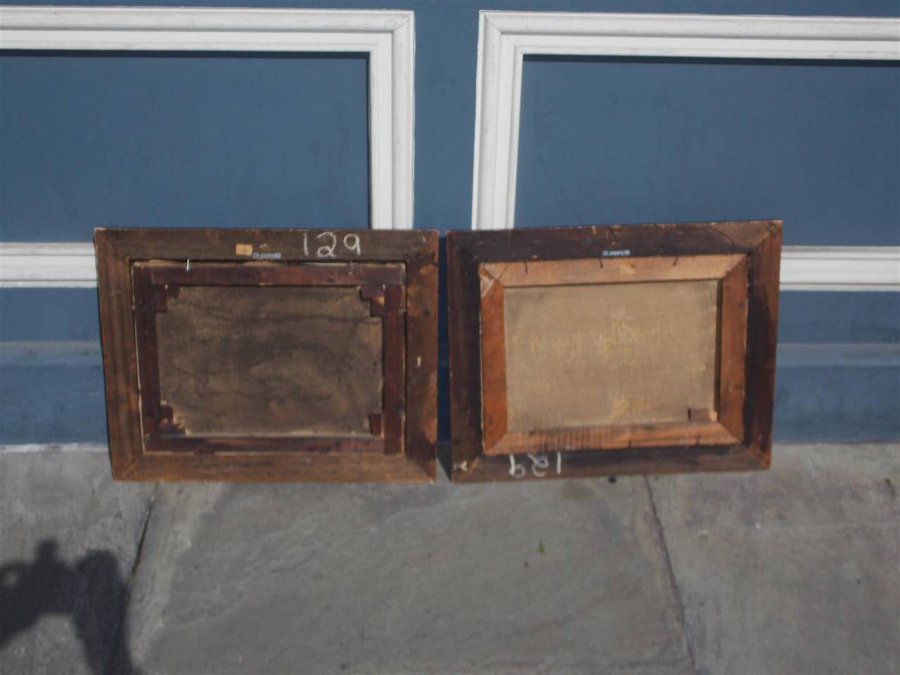 Mid-19th Century Pair of American Oil on Canvas Stills. Signed  T. Maria.  Circa 1830 For Sale