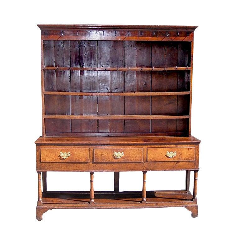 Dark Wood Welsh Dresser: English Oak Welsh Dresser For Sale At 1stdibs
