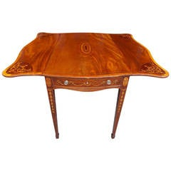 English Mahogany Inlaid Pembroke Table, Circa 1780