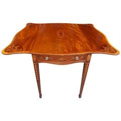 English Mahogany Inlaid Pembroke Table, Circa 1780