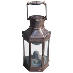 English Nautical Yacht Cabin Lantern, Stamped Best and Lloyd, Circa 1840