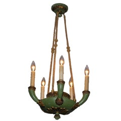 Italian Painted and Gilt Chandelier