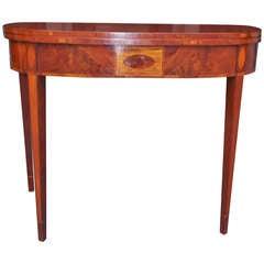 American Mahogany Game Table.  Circa 1790-1800