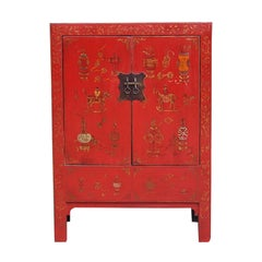 English Chinoiserie Painted Cabinet