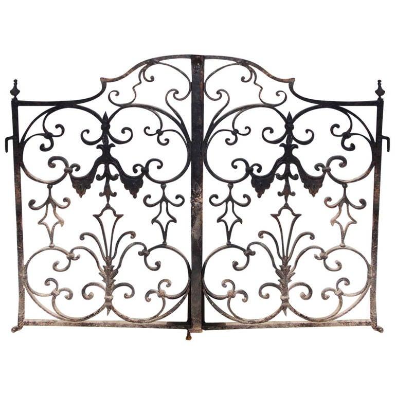 American Wrought Iron Decorative Garden Gate. Circa 1810