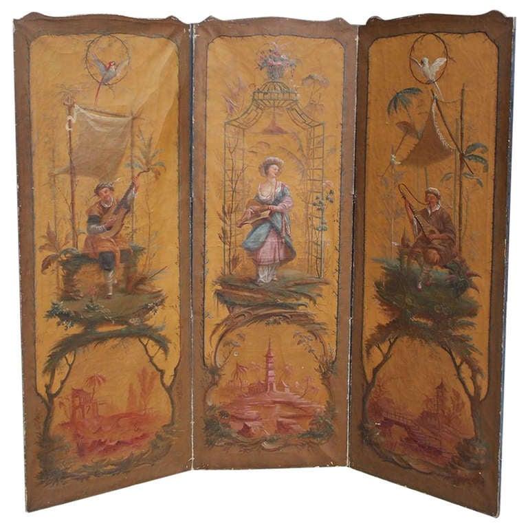 French Three Panel Screen . Circa 1820 at 1stdibs - photo#1