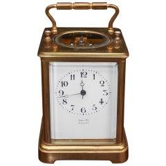 American Brass Miniature Carriage Clock, New York, Circa 1850