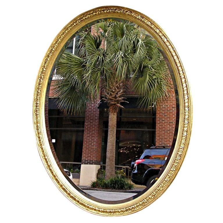 American Oval Gilt Mirror