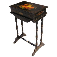French Painted and Gilt Stenciled Dressing Table. Circa 1810-15