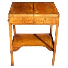 English Satinwood Ladies Dressing Table