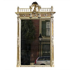 French Silver Gilt Mirror