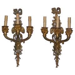 Pair of Italian Ormolu Sconces