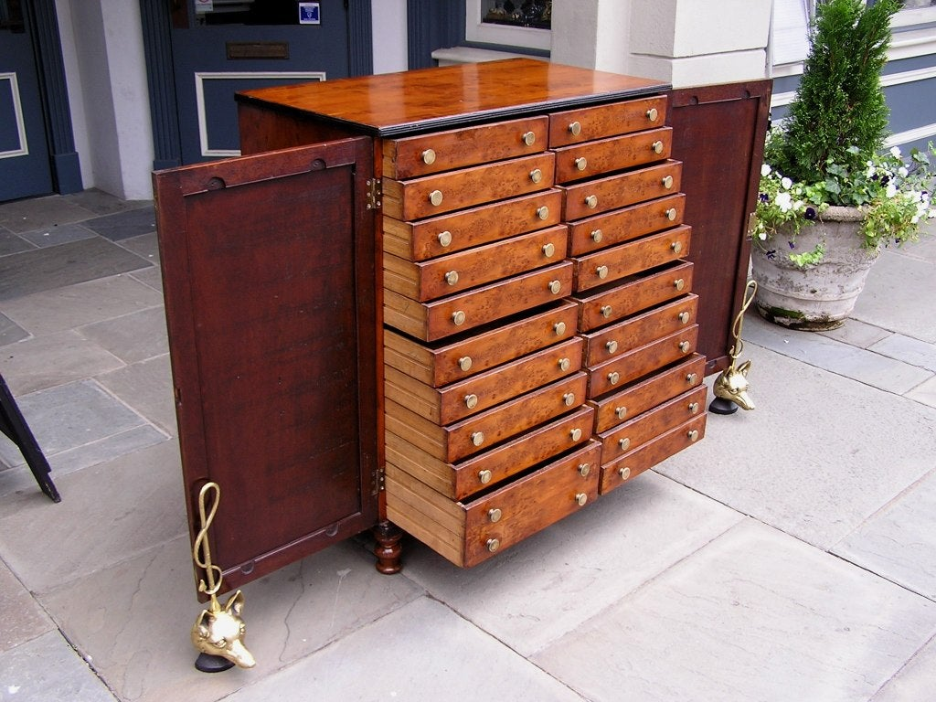 English Yew Wood Chest of Drawers For Sale 6