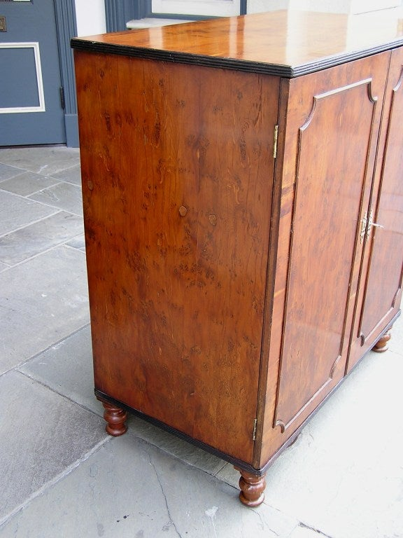18th Century and Earlier English Yew Wood Chest of Drawers For Sale