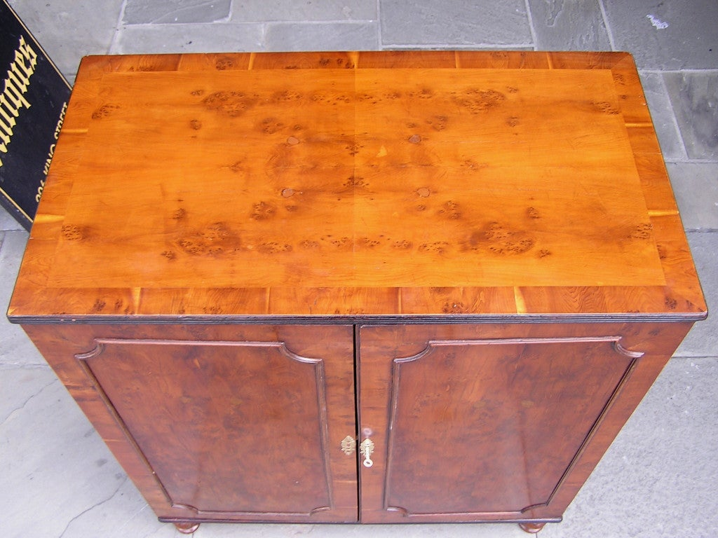 English Yew Wood Chest of Drawers For Sale 1