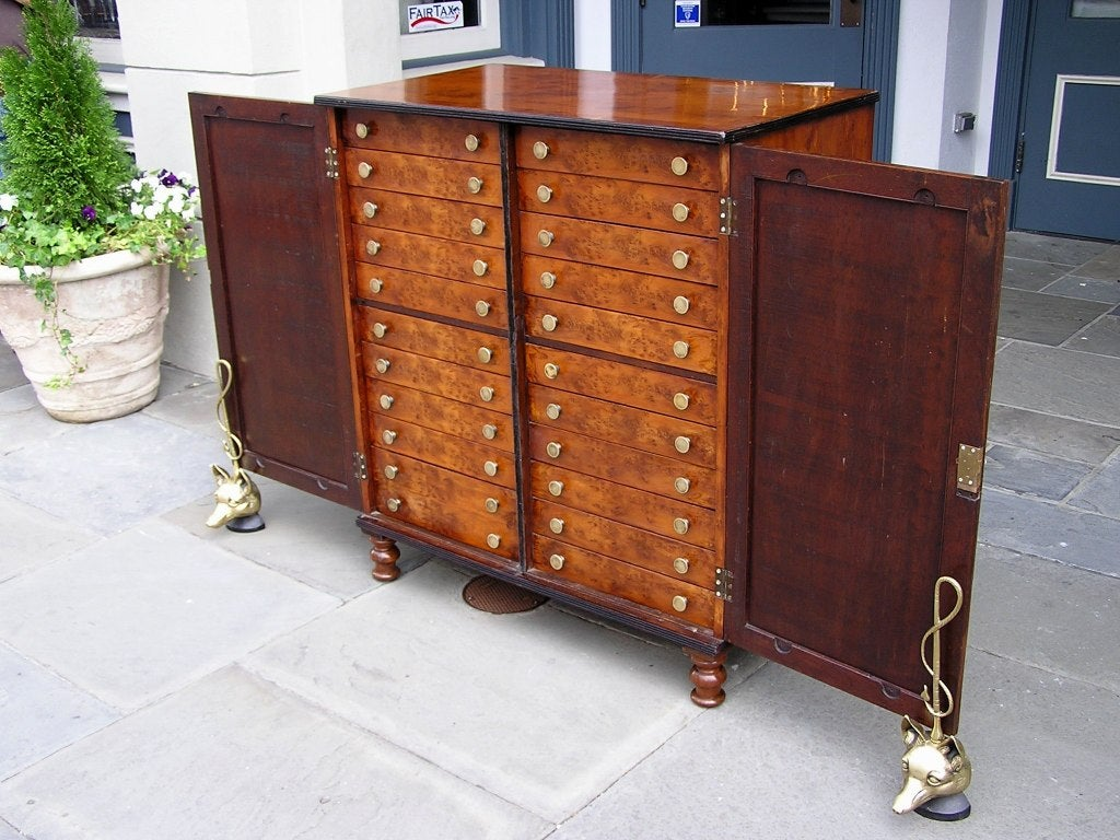 English Yew Wood Chest of Drawers For Sale 5