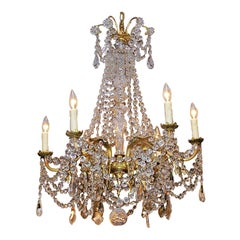 French Gilt Bronze and Crystal Chandelier