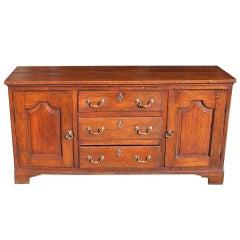 English Oak Sideboard.  Circa 1780